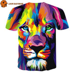 Tee Shirt Lion Multicolore