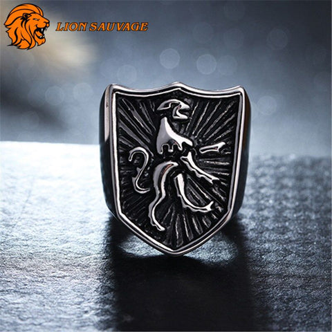 Bague Lion Horoscope de face