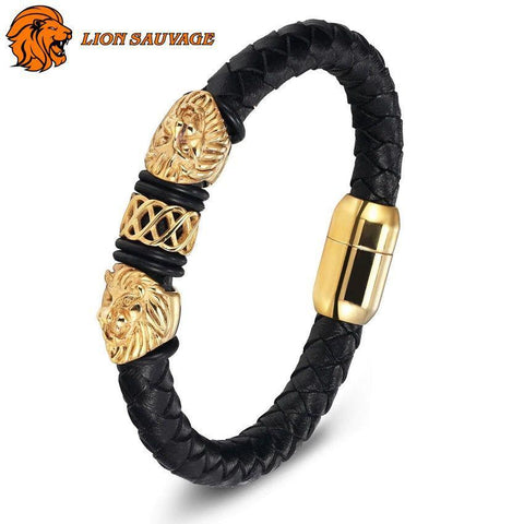 Bracelet Constellation Lion cuir