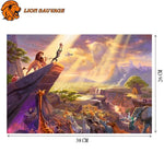 dimensions du Puzzle Roi Lion 1000 Pieces