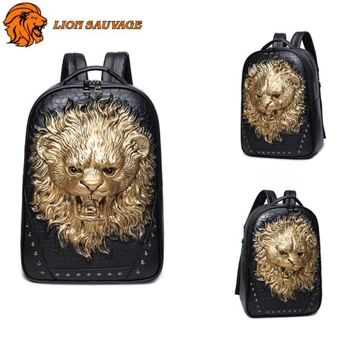 Backpack Lion Chasseur couleur or