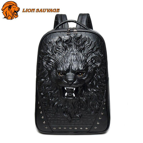 Sac à Dos Lion Motard de face