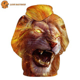Sweat Capuche Lion en Furie