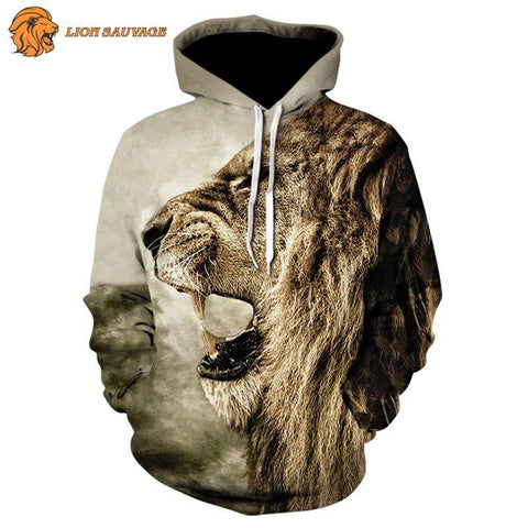Sweat-shirt Lion Indomptable