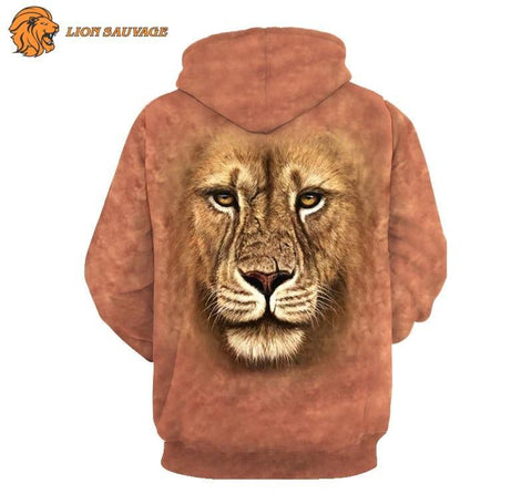 Sweat Capuche Tete de Lion