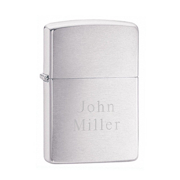Personalized Lighters - Zippo - Brushed Chrome - Groomdom