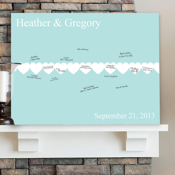 Personalized Guestbook Canvas - Paperhearts - Groomdom