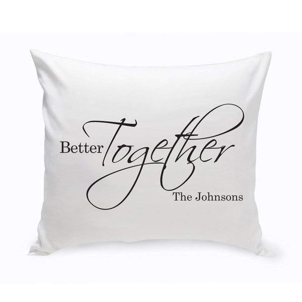 Personalized Better Together Throw Pillow - Groomdom