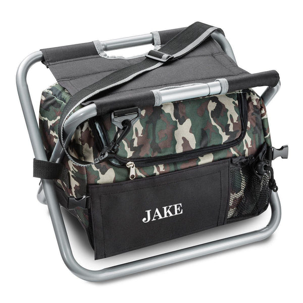 Personalized Cooler Chair - Camo - Sit N' Sip - Groomdom