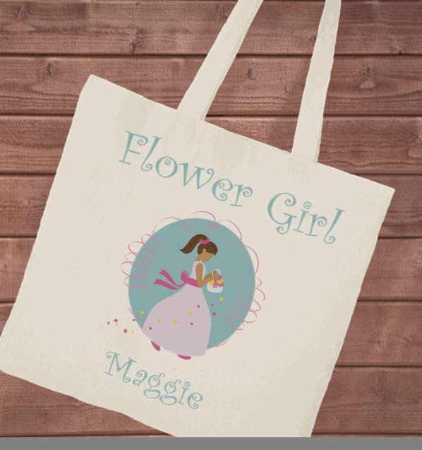 Personalized Canvas Tote - Flower Girl - Groomdom