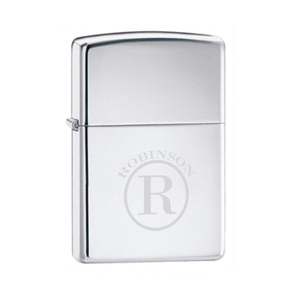 Personalized Lighters - Zippo - High Polish Chrome - Groomsmen Gifts - Groomdom