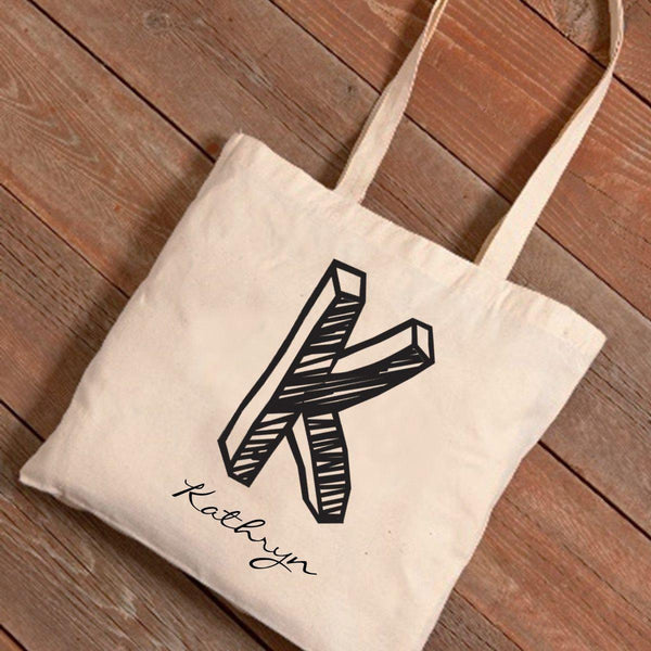 Personalized Monogrammed Canvas Tote Bag - Groomdom