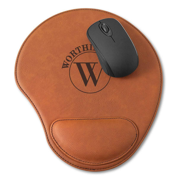 Personalized Rawhide Mouse Pad - Groomdom