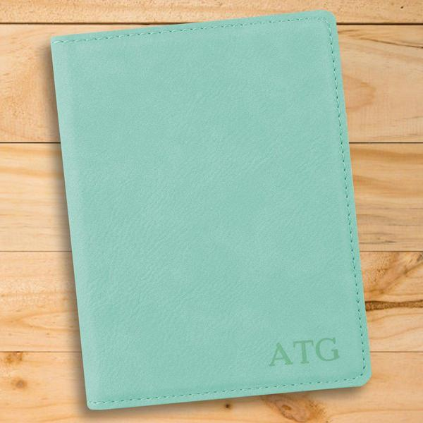 Personalized Mint Passport Holder - Groomdom