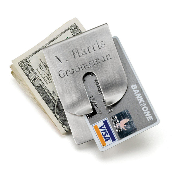 Personalized Wallet - Money Clip - Stainless Steel - Groomdom