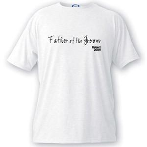Personalized Script Series Father of the Groom T-Shirt - Groomdom