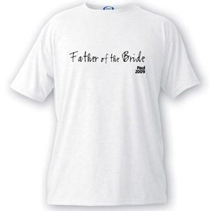 Personalized Script Series Father of the Bride T-Shirt - Groomdom