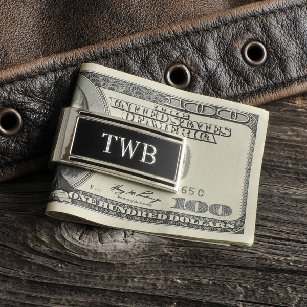 Personalized Money Clip - Silver Plated - High Roller - Groomdom
