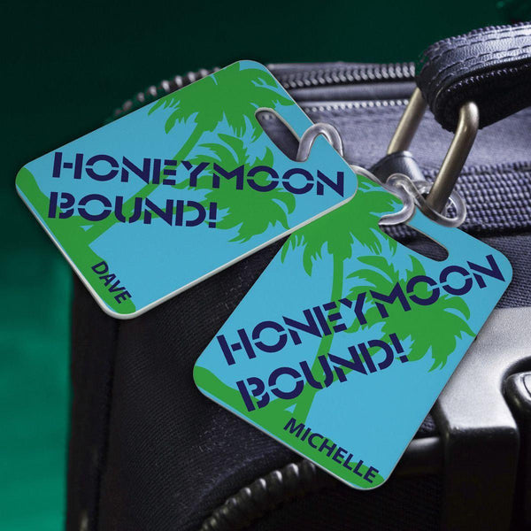 Personalized Couples Luggage Tags - Groomdom