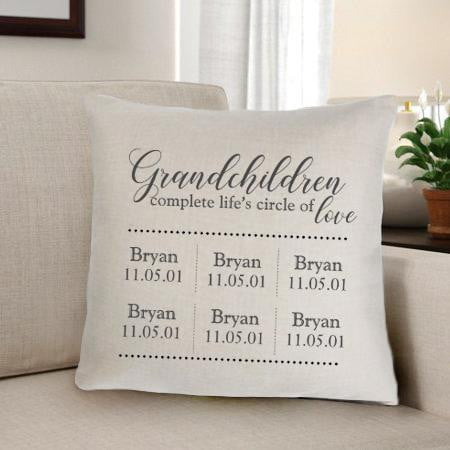 Grandparents Personalized Throw Pillow - Groomdom