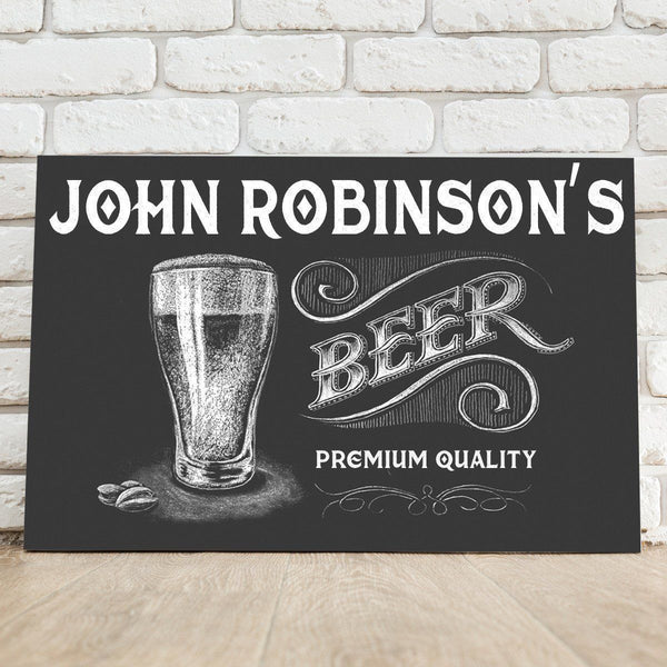 Personalized Premium Beer Canvas Sign - Groomdom