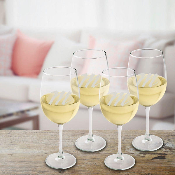 Personalized White Wine Quartet - Groomdom