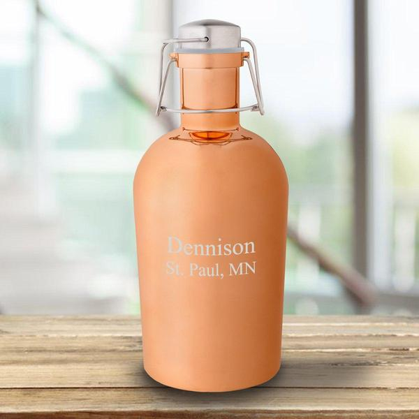 Personalized Copper 64oz Growler - Groomdom