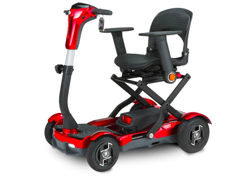 TeQno S26 Auto Folding Mobility Scooter Scooters EV Rider Ruby Red
