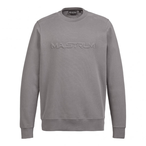 Embossed logo crew sweat- dark slate -1672.21.023