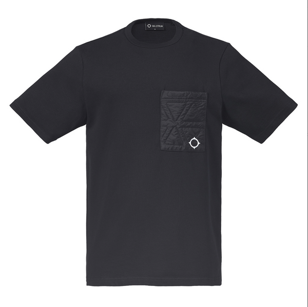 POLYGON QUILT POCKET TEE - Jet Black - 1692.10.019