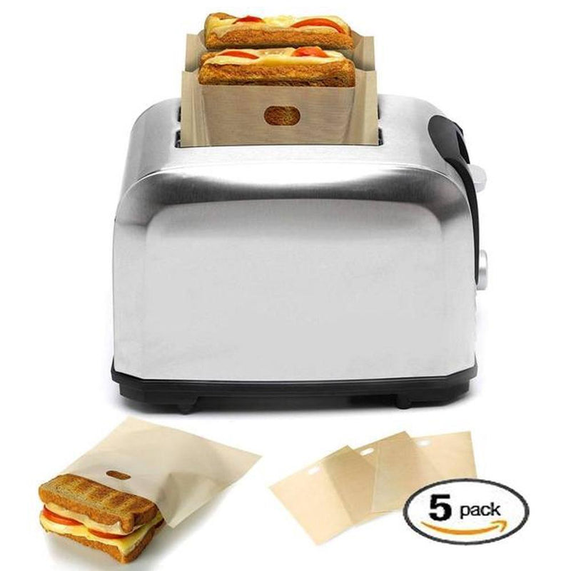 Reusable Perfect Toaster Bag(5-pc Set)