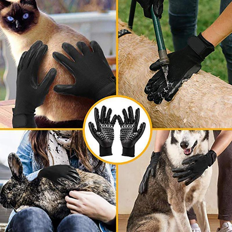 Bearhome® Pet Grooming Gloves For Cats, Dogs & Horses (1 pair )