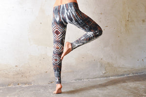 Diamond Leggings, brun & blå