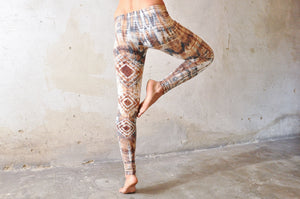 Diamond Leggings, lys brun