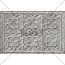 Load image into Gallery viewer, Vintage tin tiles vinyl rug