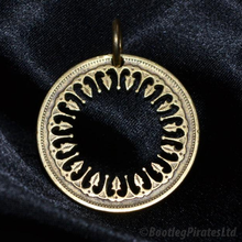 Load image into Gallery viewer, Arabic Design, Hand Cut Coin Pendant.