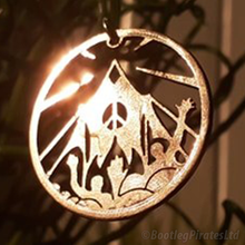 Load image into Gallery viewer, Glastonbury Pyramid Stage, Hand Cut Coin Pendent