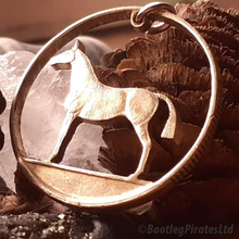 Load image into Gallery viewer, Horse, Hand Cut Coin Pendant.
