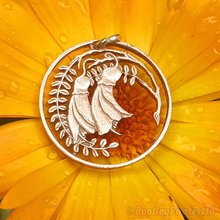 Load image into Gallery viewer, Kowhai Flower, Hand Cut Coin Pendant.