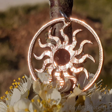 Load image into Gallery viewer, Sun, Hand Cut Coin Pendant.