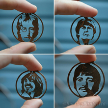 Load image into Gallery viewer, John Lennon - The Beatles - Hand Cut Coin Pendant.