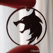 Load image into Gallery viewer, Witcher, Hand Cut Coin Pendant.