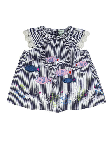 Lilly + Sid Baby Girl Fish Dress