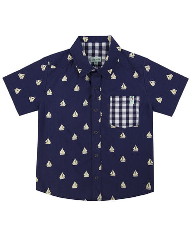 Lilly + Sid Baby Boy Nautical print Shirt