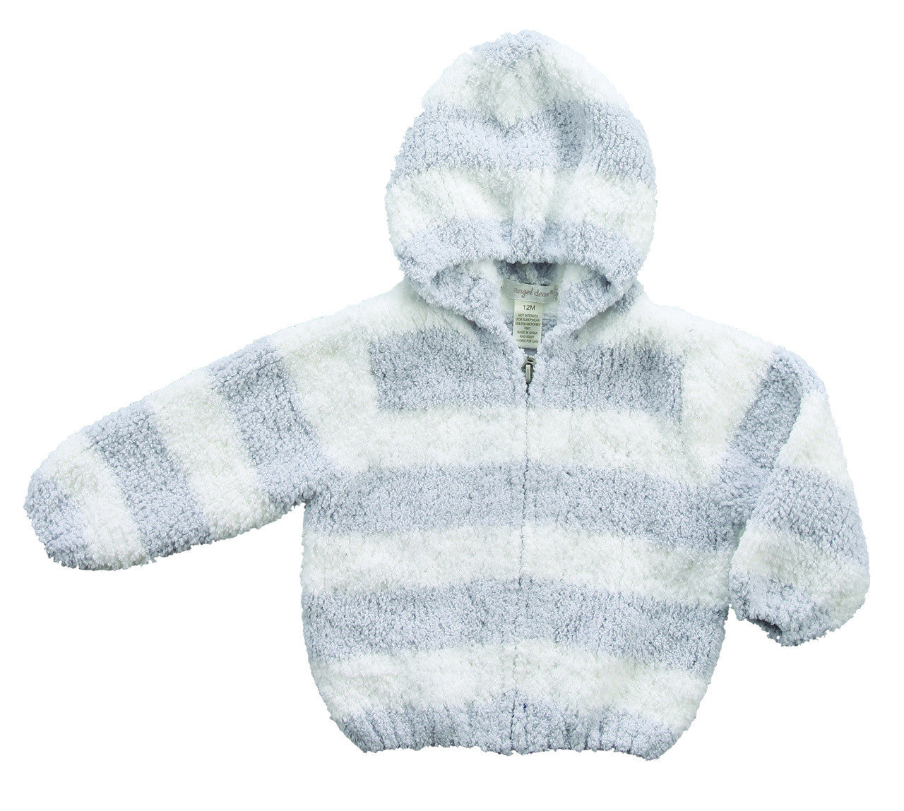 0be047a2db Chenille Hoodie - Grey / White Stripe