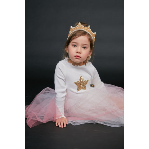 Tutu Star Dress Pink Ombre
