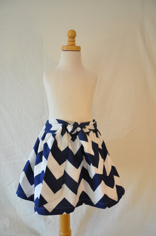 Caroline skirt - Navy Chevron