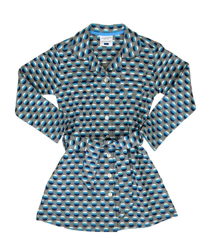 Toobydoo Girls Shirt Dress Navy available at The Groovy Gator in Newport, RI