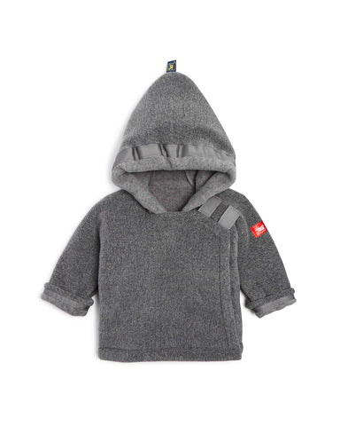 Widgeon Warm Plus Baby Jacket in Grey.  Hooded Fleece jacket available in at The Groovy Gator in Newport, RI