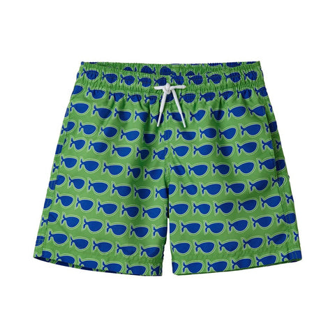 Stella Cove Boys Swimsuit green/navy whale